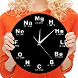 The Geeky Days Chemical Symbols Wall Clock Chemical Elements Periodic Table Clock Biology Wall Art Novelty Clock Watch Science Teachers Gift