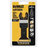 DEWALT Oscillating Tool Blade for Wood with Nails, Wide, Titanium (DWA4204)