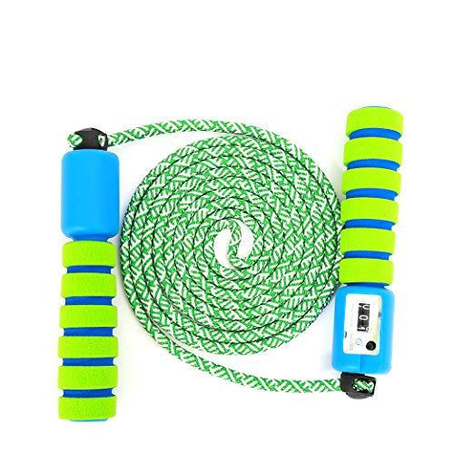 UPSTONE Adjustable Kids Jump Rope with Counter Improve Fitness and Lose Weight in a Fun Workout Blue and Green