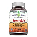 Amazing Formulas Bromelain - 500 mg, 2400 GDU - 120 Veggie Capsules - Proteolytic Enzymes - Supports Dijestion of Proteins - Anti-Inflammatory Properties - Supports Nutrient Absorption