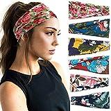 6 Pack Set Women's Yoga Running Headbands Sports Workout Hair Bands (Set 2)