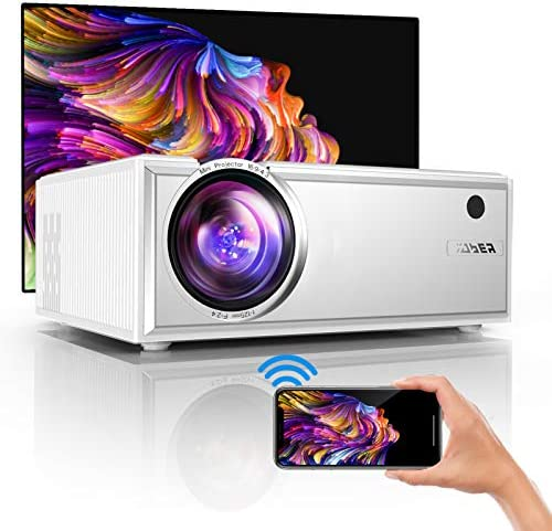 YABER Y61 WiFi Mini Projector 5500L Full HD 1080P and 200″ Supported, Portable Wireless Mirroring Projector for iOS/Android/TV Stick/PS4/PC Home & Outdoor