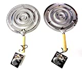 2 Simmer Ring Flame Heat Diffuser with Wooden Handle 2 Pack