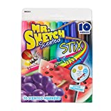 Mr. Sketch Scented Stix Markers, Fine Tip, Assorted Colors, 10-Count