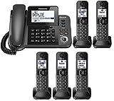 Panasonic KX-TGF383M plus two KX-TGFA30M handsets DECT 6.0 Plus Corded / Cordless 5-Handset Landline Telephone System (KX-TGF383M+2, KX-TGF382M+3, KX-TGF380M+4) (Renewed)