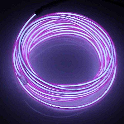 Jytrend 9ft Neon Light El Wire w/ Battery Pack - Purple