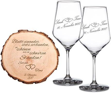 Casa Vivente Geschenkset Zur Hochzeit 2 Weißwein Gläser