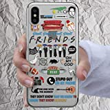 Friends TV Show Phone Case for iPhone 7 8 6 6s plus X Xr Xs Max 5s se 5se Merchandise Gifts Monica Door Frame Central Perk Mug Print TPU Silicone Cover