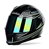 MX Motorcycle Helmt Motorcycle Modular Full Face Helmet Offroad Racing Helmet D.O.T Certified Dual Sport Adjustable Size Helmet Removable Lining,Green,XXL