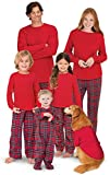 PajamaGram Family Christmas Pajamas Set - Soft Stewart Plaid, Red, Toddler, 5T