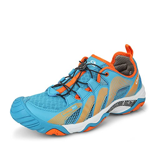 Clorts Men's Water Shoe Lightweight Quick Drying Kayaking Beach Hiking Trekking Walking Sneaker Blue 3H028A US9.5