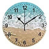Kitchen Clock Starfish Decorative Wall Clock Non-Ticking Silent Outdoor Patio Clock for Home