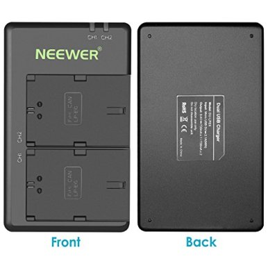 Neewer-LP-E6-LP-E6N-Battery-Rechargeable-Battery-Charger-Set-for-Canon-5D-Mark-II-III-IV-5Ds-6D-70D-80D-and-More-2-Pack-2000mAh-Camera-BatteriesVersatile-Charging-Option-with-USB-Black