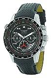 AVIATOR Watch Men's Military Quartz Pilot Chronograph Black Leather Strap Wristwatch F-Series AVW7770G59