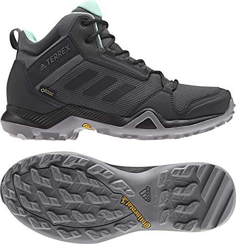 adidas outdoor Women's Terrex AX3 Mid GTX¿ Grey Five/Black/Clear Mint 9 B US