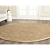 Safavieh Natural Fiber Collection NF747A Hand Woven Natural Jute Round Area Rug (7' Diameter)