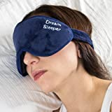 If You Lose It We Will Replace It for Free. Dream Sleeper  Sleep Mask with Eye Pockets and Full Velcro Eye Mask Sleeping Will Block Out 100% of All Light.