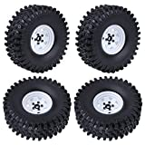 Hobbypark 1/10 RC Crawler 1.9' Beadlock Wheel Rims Tires 4.72 inch w/Foam Inserts for Traxxas TRX-4 Axial SCX10 RC4WD D90 D110 TF2 Tamiya CC01 (Set of 4)