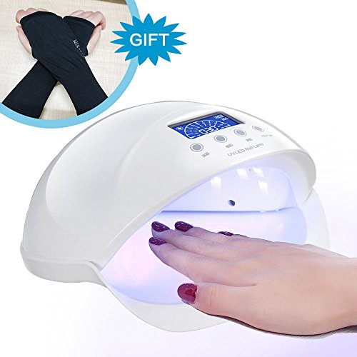 Best LED Gel Nail UV Light For Nails Polish Manicure Plus Anti-UV Gloves Gift Kit, 48W Professional Quickly Harden Shellac Nail Dryer Lamp With Motion Sensor
