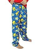 Pokemon Boy's Flannel Pajama Pants (Medium / 6-8, Blue)