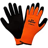 Ice Gripster Global Glove Mens Water Repellent Gloves Orange 378INT (Large)