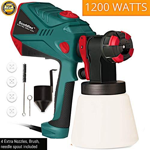 Scuddles Power Paint Sprayer 1200 Watts High Power Hvlp Spray Gun for Painting Control Spray Heavy Duty