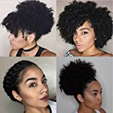 10inch Brazilian Virgin Hair Afro Kinky Curly Clip in Human Hair Extensions for African American Natural Color Kinky Curly Clip Ins 7pcs/lot 120g