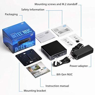 Intel-NUC-NUC8i5BEH-Mini-PCHTPC-i5-NUC-Tall-with-16GB-DDR4-Ram-Kingston-256GB-SSD-Intel-Core-i5-8259U-Upto-38GHz-Windows-10-Home-NUC8-i5-Tall-with-16GB-Ram-256GB-SSD