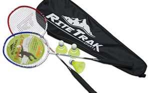 8648fc965 FiberFlash 7 Badminton Racket Set by RiteTrak Sports