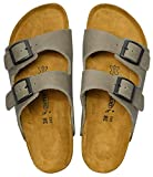 AEROTHOTIC - Genuine Suede Leather and Cork Footbed Sandals for Women (US-Women-6, Vista Grey)