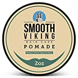 Pomade for Men - Medium Hold & High Shine - Hair Styling Formula for Straight, Thick and Curly Hair - 2 OZ - Smooth Viking...