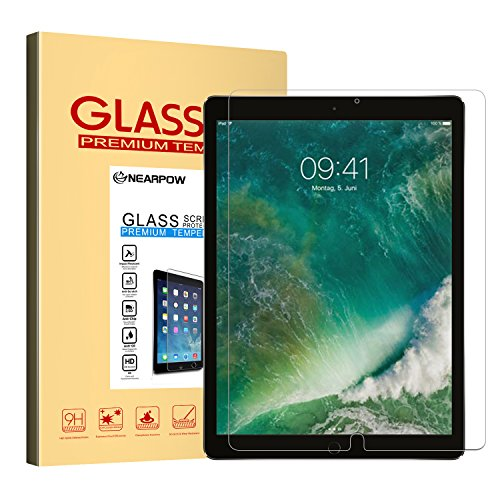 iPad Pro 10.5 Screen Protector, Nearpow Tempered Glass [2.5D Round Edge] [9H Hardness] [Crystal Clear] [Easy Bubble-Free Installation] [Scratch Resist] for New iPad Pro 10.5 Inch