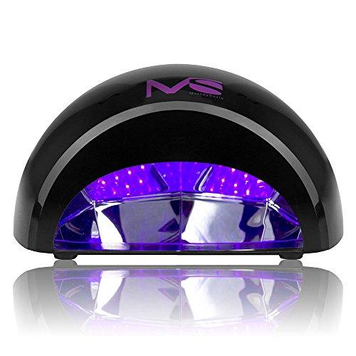 MelodySusie 12W LED Nail Dryer - Nail Lamp Curing LED Gel Nail Polish, Professional for Nail Art at Home and Salon - Black