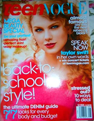 Amazon Com Teen Vogue Magazine August 2011 Taylor Swift Cover Everything Else