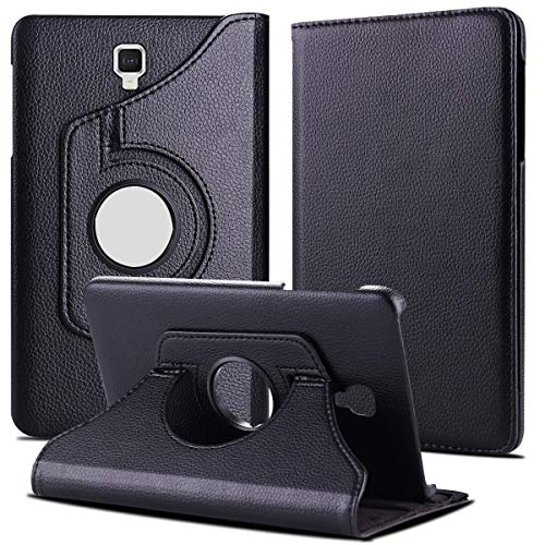 TGK 360 Degree Rotating Leather Smart Rotary Swivel Stand Case Cover for Samsung Galaxy Tab A 8 inch 2017 [Model SM- T380 / T385] Black 209