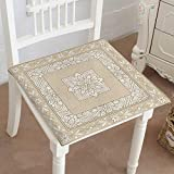 Chair Seat Pads Cushions vintage design on a beige background ornamental backdrop ornate decor for wallpaper Square Car and Chair Cushion / Pad With Ties, Soft, For Indoors Or Outdoor 32'x32'x2pcs