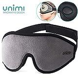 Eye Mask for Sleeping, Unimi 3D Contoured Sleep Mask & Blindfold for Men Women,Super Soft and Comfortable,100% Blockout Light 3D Eye Cover for Travel, Shift Work, Naps (Grey)