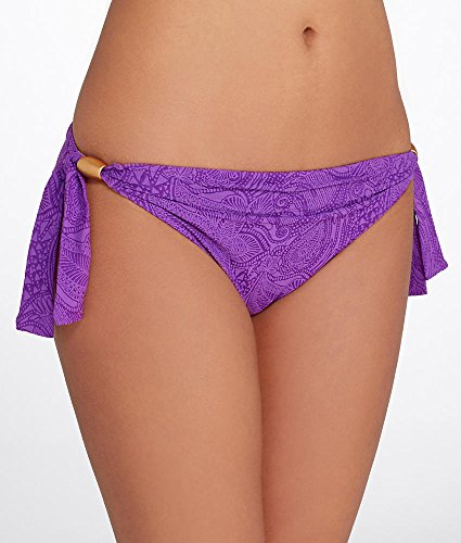 51oFbd%2B4saL Make a splash in this paisley lined swim bottom Achieve the perfect fit with self tie sides 4.5'' low; measurement taken from size M