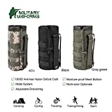 MILITARY UNIFORMS Outdoor Gear Mesh Flask Bag Drawstring Water Bottle Pouch Molle Water Bottle Attachment ACU CP Camouflage Tactical Hiking Camping 1000D Nylon Anti-Tear Oxford Cloth (Black)