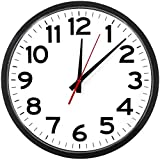 The Ultimate Wall Clock - Atomic Wall Clock, Large, Silent, Analog, Battery Operated, Easy to Read