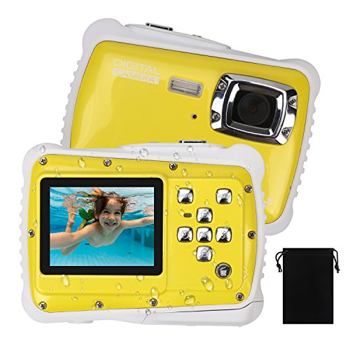 Waterproof Camera for Kids, DECOMEN Underwater Digital Camera for Children, Sport Action Camcorder with 12MP HD Photo Resolution, 2.0″ LCD, 8X Digital Zoom, Flash, and Mic, Best Gift Choice for Kids.