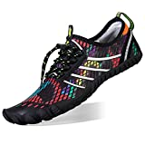 FEIFAN Mens Womens Water Shoes Beach Swim Running Shoes Camouflage White 42