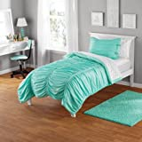 Mini comforter Set, includes comforter and sham 100 Percent Polyester (Twin/Twin XL, Mint)