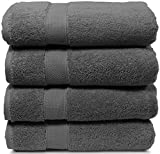 4 Piece Bath Towel Set. 2017(New Collection).Premium Quality Turkish Towels. Super Soft, Plush and Highly Absorbent. Set Includes 4 Pieces of Bath Towels. By Maura (Bath Towel - Set of 4, Space Gray)