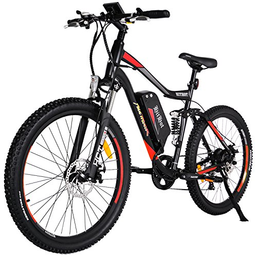 Addmotor HITHOT Electric Mountain Bikes 48V 500W Motor 10.4 Ah Samsung Lithium Battery Electric Bicycle With Throttle Hithot H1 Ebike 2018 For Adults(Orange)