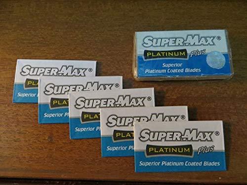 Supermax 100 Platanium Double Edge Shaving Razor Blade - (20Pkt*5Blades) 16