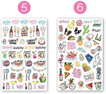 bloom daily planners New Classic Planner Sticker Sheets - Variety Sticker Pack - 417 Stickers Per Pack! 4