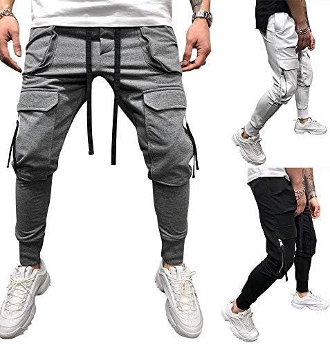 lexiart Mens Fashion Athletie Cargo Pants - Casual Joggers Sweatpants Slim Fit Pants 2