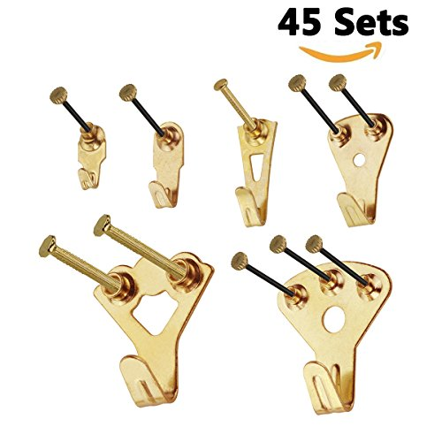 Picture Hangers, YTE 45 Sets Heavy Duty Picture Hanging Kit Picture ...