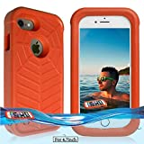 Temdan iPhone 8 / 7 / 6/6s Floating Case with a 0.2mm Clear&Thin Waterproof Bag Shockproof Lifejacket Case for iPhone 8 / 7 / 6 (4.7inch) -Orange